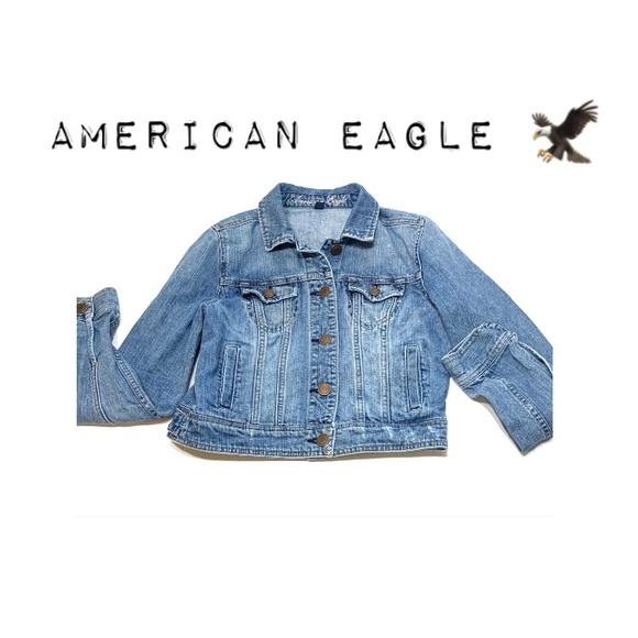American Eagle Outfitters Jackets & Blazers - American Eagle Light wash denim jacket